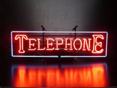Telephone Neon Sign